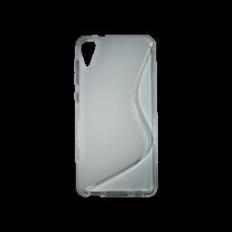 HTC Desire 825 - Gumiran ovitek (TPU) - sivo-prosojen SLine