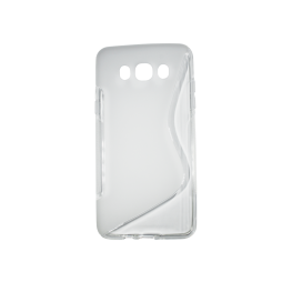Samsung Galaxy J7 (2016) - Gumiran ovitek (TPU) - belo-prosojen SLine