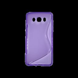 Samsung Galaxy J7 (2016) - Gumiran ovitek (TPU) - vijolično-prosojen SLine