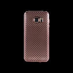 Samsung Galaxy S7 - Gumiran ovitek (TPUE) - roza-zlat