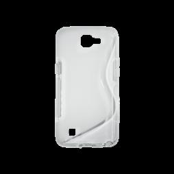 LG K4 - Gumiran ovitek (TPU) - belo-prosojen SLine