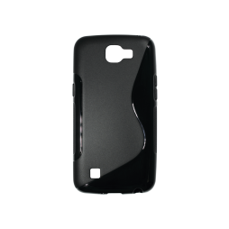 LG K4 - Gumiran ovitek (TPU) - črn SLine