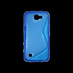 LG K4 - Gumiran ovitek (TPU) - modro-prosojen SLine