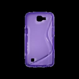 LG K4 - Gumiran ovitek (TPU) - vijolično-prosojen SLine