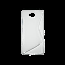 Microsoft Lumia 650 - Gumiran ovitek (TPU) - belo-prosojen SLine