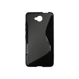 Microsoft Lumia 650 - Gumiran ovitek (TPU) - črn SLine