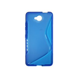 Microsoft Lumia 650 - Gumiran ovitek (TPU) - modro-prosojen SLine