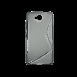 Microsoft Lumia 650 - Gumiran ovitek (TPU) - sivo-prosojen SLine