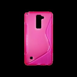 LG Stylus 2 - Gumiran ovitek (TPU) - roza-prosojen SLine