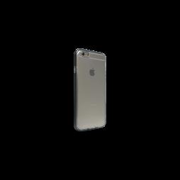 Apple iPhone 6Plus/6SPlus - Gumiran ovitek (TPU+ALU) - črn