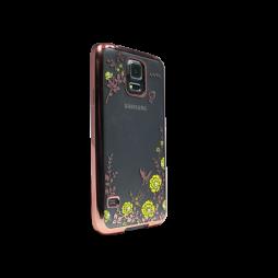 Samsung Galaxy S5/S5 Neo - Gumiran ovitek (TPUE) - rumena rožice