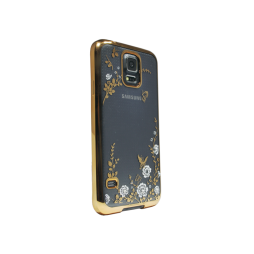 Samsung Galaxy S5/S5 Neo - Gumiran ovitek (TPUE) - bela rožice