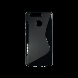 Huawei P9 - Gumiran ovitek (TPU) - črn SLine