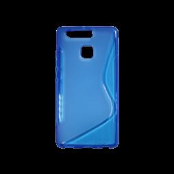 Huawei P9 - Gumiran ovitek (TPU) - modro-prosojen SLine