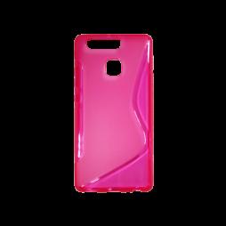 Huawei P9 - Gumiran ovitek (TPU) - roza-prosojen SLine
