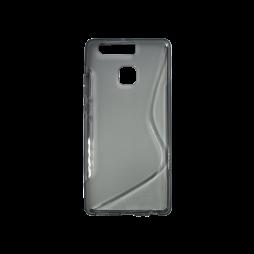 Huawei P9 - Gumiran ovitek (TPU) - sivo-prosojen SLine