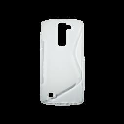 LG K8 - Gumiran ovitek (TPU) - belo-prosojen SLine