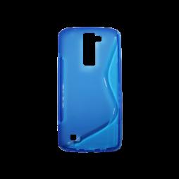 LG K8 - Gumiran ovitek (TPU) - modro-prosojen SLine