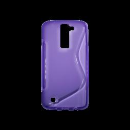 LG K8 - Gumiran ovitek (TPU) - vijolično-prosojen SLine