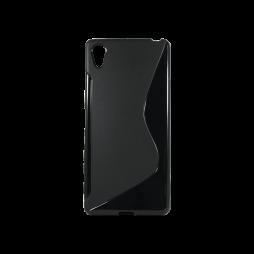 Sony Xperia X - Gumiran ovitek (TPU) - črn SLine