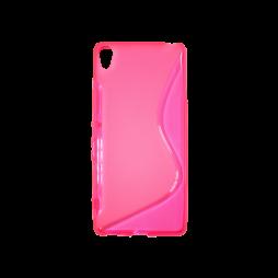 Sony Xperia XA - Gumiran ovitek (TPU) - roza-prosojen SLine