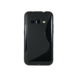 Samsung Galaxy J1 (2016) - Gumiran ovitek (TPU) - črn SLine