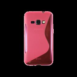 Samsung Galaxy J1 (2016) - Gumiran ovitek (TPU) - roza-prosojen SLine