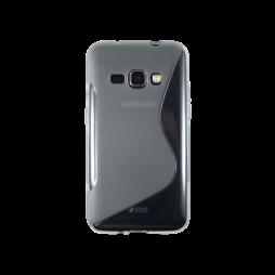 Samsung Galaxy J1 (2016) - Gumiran ovitek (TPU) - sivo-prosojen SLine