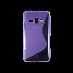 Samsung Galaxy J1 (2016) - Gumiran ovitek (TPU) - vijolično-prosojen SLine