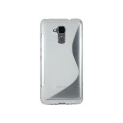 Huawei Honor 7 Lite/Honor 5C - Gumiran ovitek (TPU) - belo-prosojen SLine