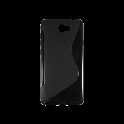 Huawei Y5 II (Honor 5)/Y6 II Compact - Gumiran ovitek (TPU) - črn SLine