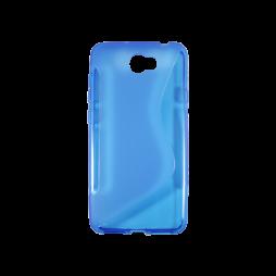 Huawei Y5 II (Honor 5)/Y6 II Compact - Gumiran ovitek (TPU) - modro-prosojen SLine