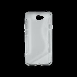Huawei Y5 II (Honor 5)/Y6 II Compact - Gumiran ovitek (TPU) - sivo-prosojen SLine