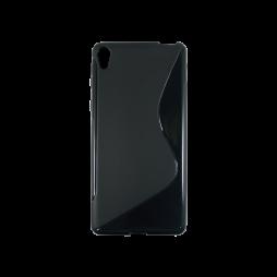 Sony Xperia E5 - Gumiran ovitek (TPU) - črn SLine