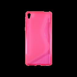 Sony Xperia E5 - Gumiran ovitek (TPU) - rozao-prosojen SLine