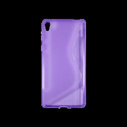 Sony Xperia E5 - Gumiran ovitek (TPU) - vijolično-prosojen SLine