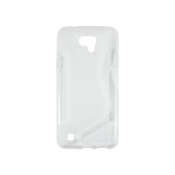 LG X cam - Gumiran ovitek (TPU) - belo-prosojen SLine