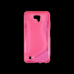 LG X cam - Gumiran ovitek (TPU) - roza-prosojen SLine
