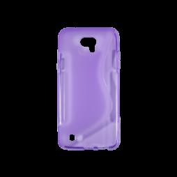 LG X cam - Gumiran ovitek (TPU) - vijolično-prosojen SLine
