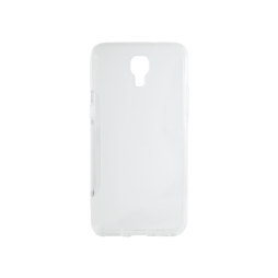 LG X screen - Gumiran ovitek (TPU) - belo-prosojen SLine