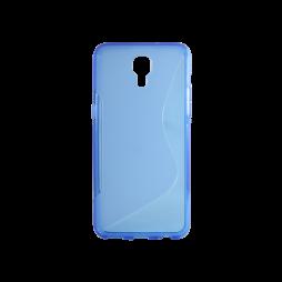 LG X screen - Gumiran ovitek (TPU) - modro-prosojen SLine