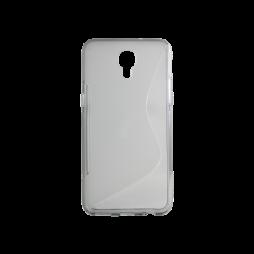 LG X screen - Gumiran ovitek (TPU) - sivo-prosojen SLine