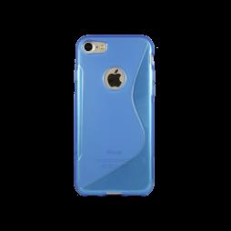 Apple iPhone 7 - Gumiran ovitek (TPU) - modro-prosojen SLine