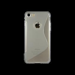 Apple iPhone 7 - Gumiran ovitek (TPU) - sivo-prosojen SLine