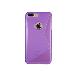 Apple iPhone 7 Plus/8 Plus - Gumiran ovitek (TPU) - vijolično-prosojen SLine