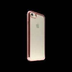 Apple iPhone 7 - Gumiran ovitek (TPUE) - roza-zlat