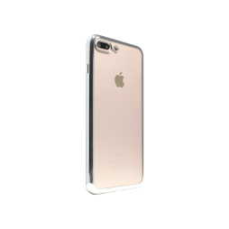 Apple iPhone 7 Plus/8 Plus - Gumiran ovitek (TPUE) - rob srebrn