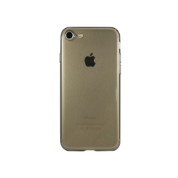 Apple iPhone 7 - Gumiran ovitek (TPUA) - sivo-prosojen