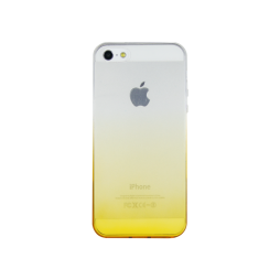 Apple iPhone 5/5S/SE - Gumiran ovitek (TPUO) - rumena