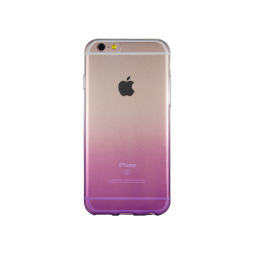 Apple iPhone 6/6S - Gumiran ovitek (TPUO) - vijolična